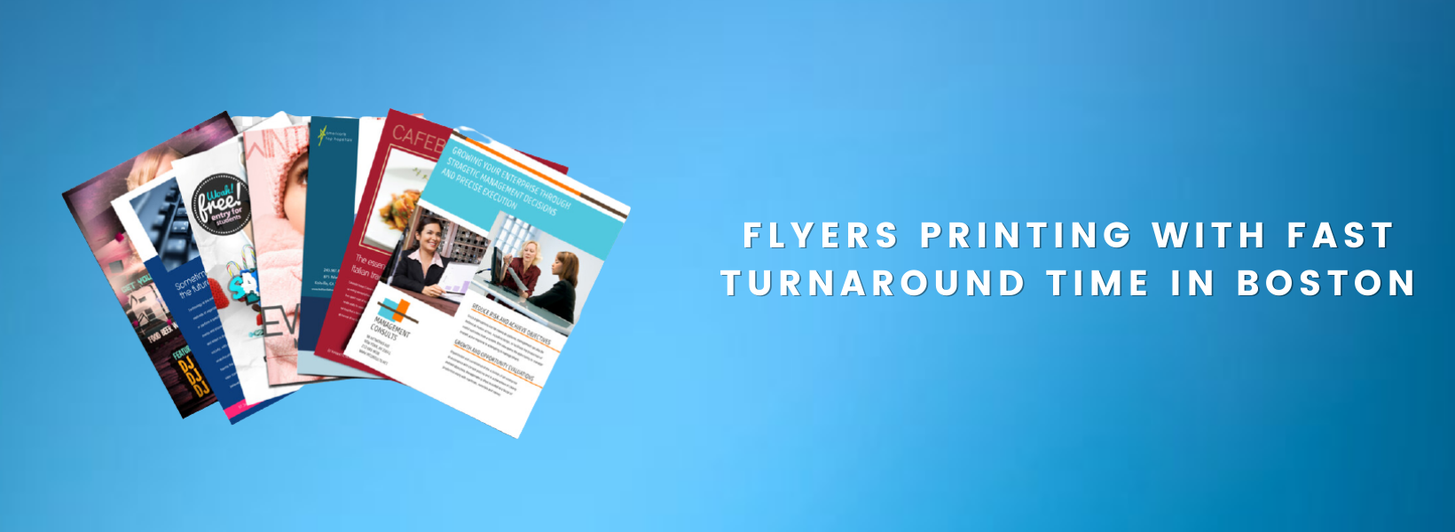 Flyers Printing with Fast Turnaround Time in Boston
